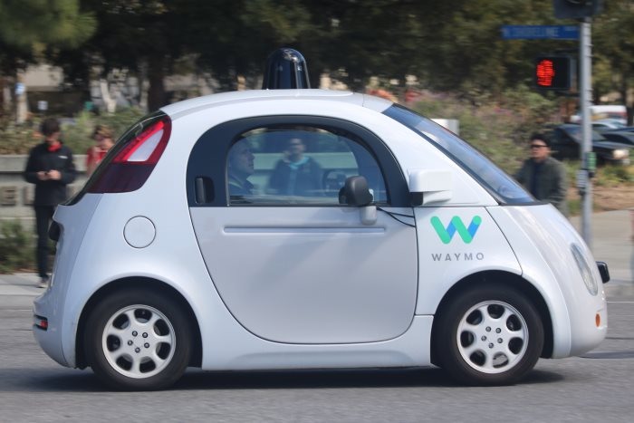A Waymo driverless car