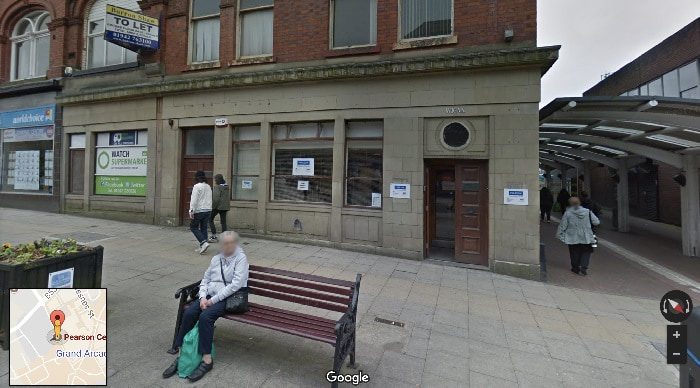 Street view outside Wigan theory test centre