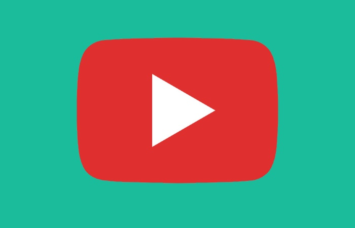 YouTube logo on green background